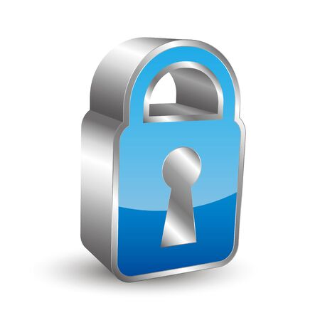 padlock icon: 3D padlock icon