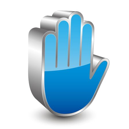 stop hand: 3D stop hand icon Illustration