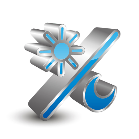 brightness: 3D brightness icon Illustration