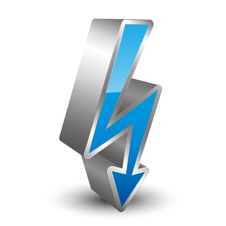 high voltage symbol: 3D icon voltage Illustration