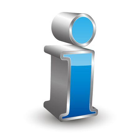 3D icon Information Illustration