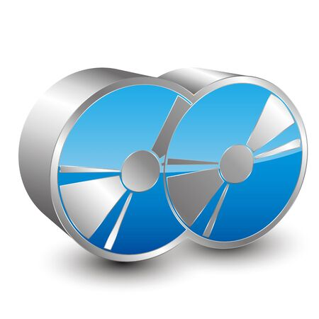 duplication: two cd 3D icon Illustration