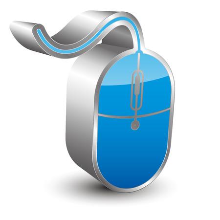 3d mouse: 3D mouse icon Illustration