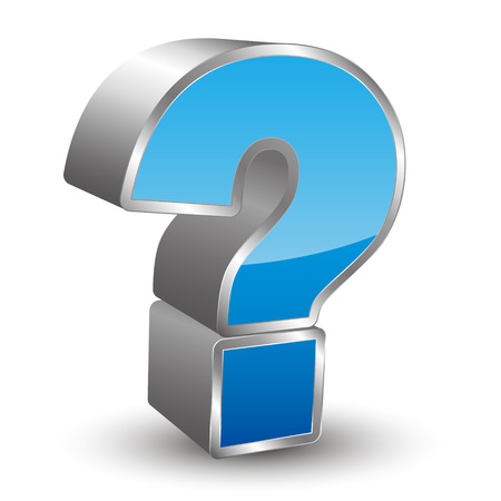 question mark: 3D question mark icon