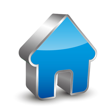 Home icon 3D Banque d'images - 45576544