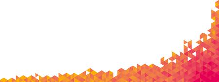 backdrop design: Abstract geometric banner full vector