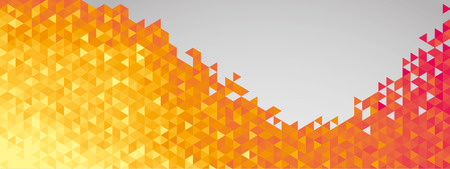 Abstract geometric banner full vector