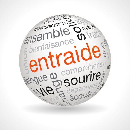 キーワード ベクトルとフランス共済テーマ球