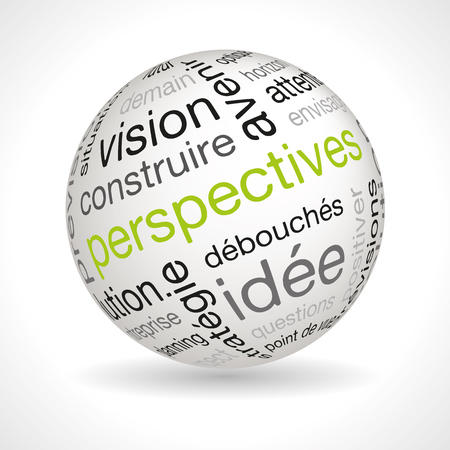 French prospects theme sphere with keywords full vector