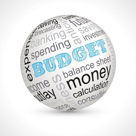 keywords: Budget theme sphere with keywords full vector Illustration