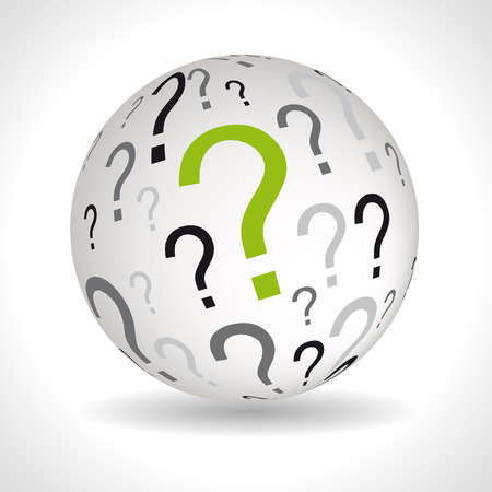lexical: Question theme sphere with keywords full vector
