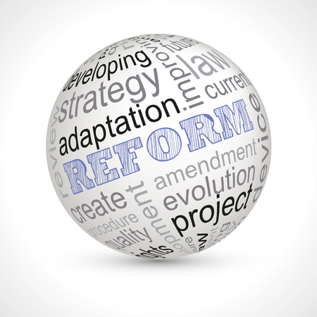 reform: Reform sphere with keywords full vector