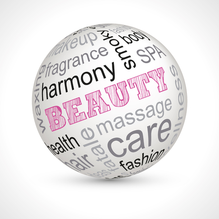 femme: Beauty theme sphere with keywords full
