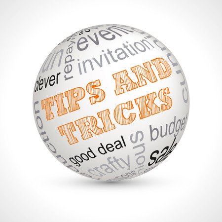 Tips and tricks theme sphere with keywords full