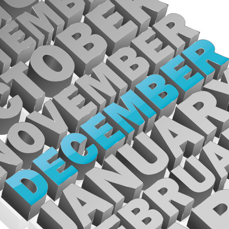 square composition: December square composition with full vector elements Illustration