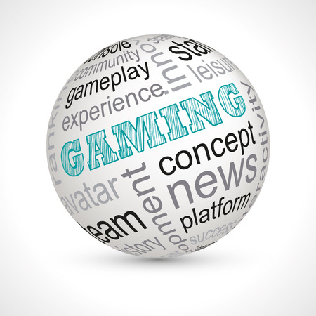 gaming: Gaming theme sphere with keywords