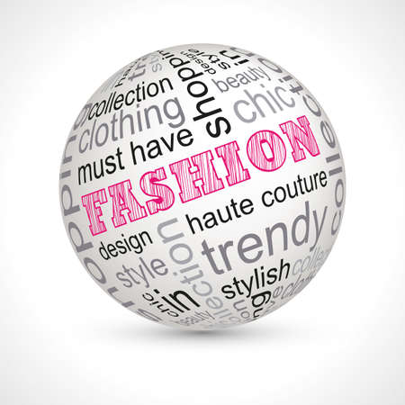 keywords: Fashion theme sphere with keywords Illustration