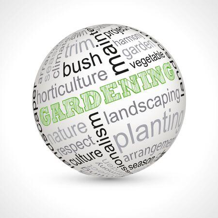 Gardening theme sphere with keywords