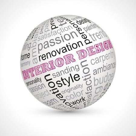 interior design: Interior design theme sphere with keywords