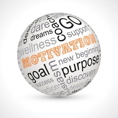 Motivation theme sphere with keywords 版權商用圖片 - 51562326