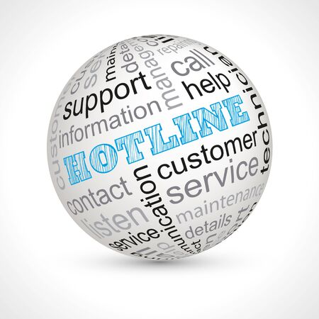 hot line: Hot line theme sphere with keywords