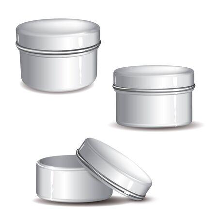 customizable: Customizable white Cream jar full elements
