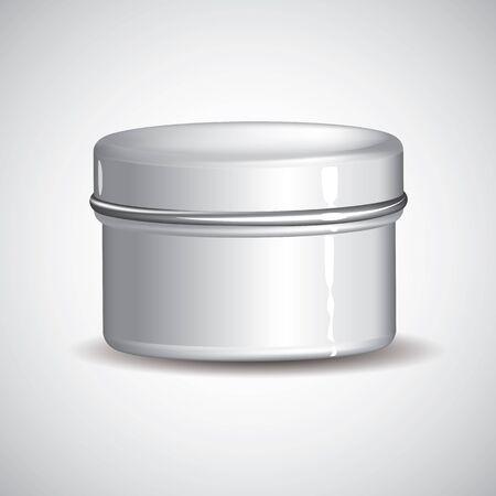 customizable: Customizable white Cream jar full element Illustration
