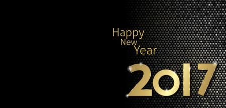 幸せな新しい年 2017年グリーティング カード ベクトル  イラスト・ベクター素材