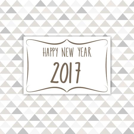 seventeen: 2017 vintage design greeting card full vector Illustration