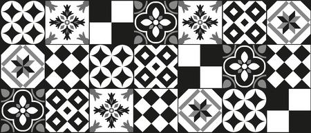 ciment Conception noire et blanche de fond de carreaux