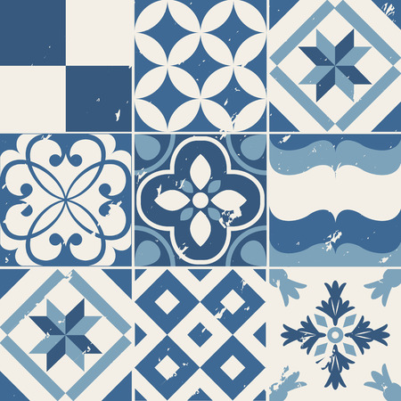 Vintage style cement tile background design