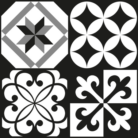 tilling: Black and white cement tile background design