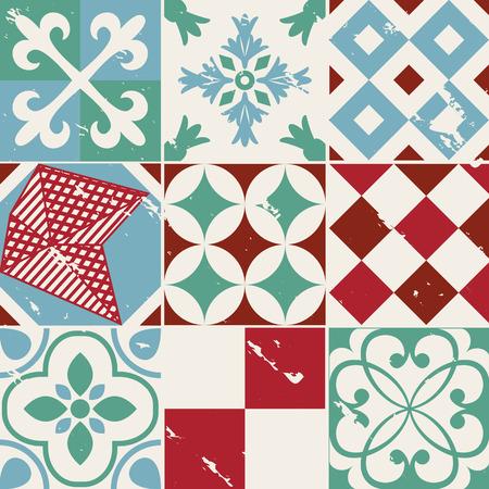 tilling: Vintage style cement tile background design