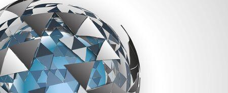 Fondo geométrico abstracto de procesamiento 3D vector completo