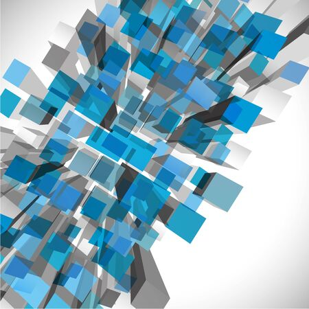 abstract cubes: Abstract geometric background 3d cubes full vector