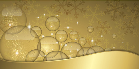 golden light: Christmas starry banner with pretty golden glitter