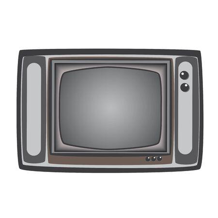 retro tv: Retro TV full vector element