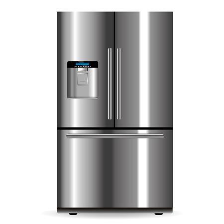 distributor: Vector fridge silver design isolated on white background Illustration