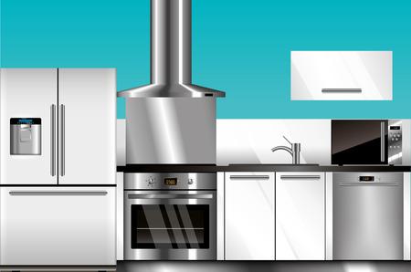 Moderne Küche Lizenzfreie Vektorgrafiken Kaufen: 123RF