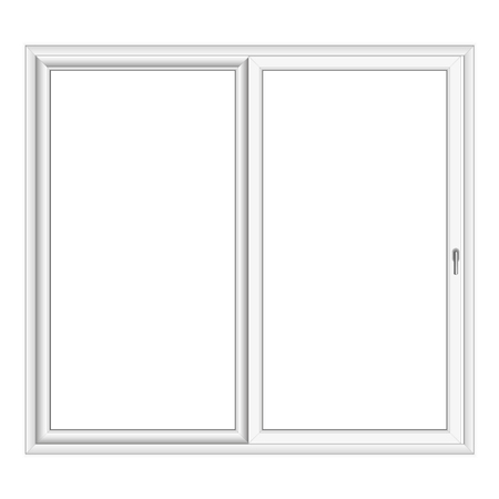 bay: White PVC vector bay window isolated on white background Illustration