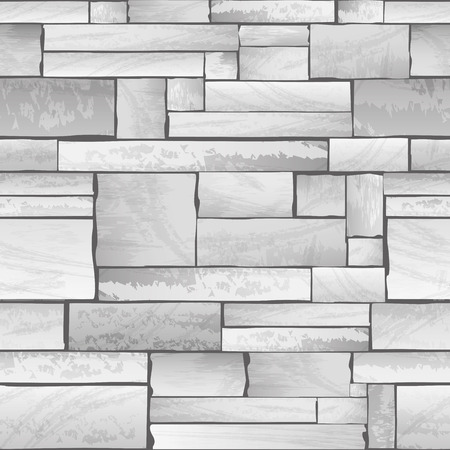 Seamless stone wall full vector texture background
