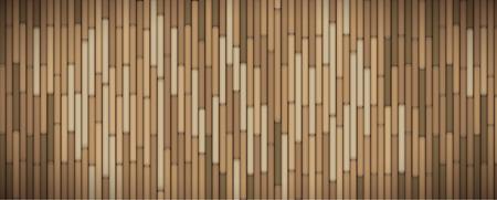 customizable: Zen bamboo branches full vector customizable banner Illustration