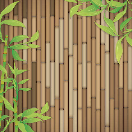 customizable: Green bamboo branches full vector customizable background