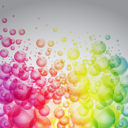 Rainbow color bubbles full vector art background