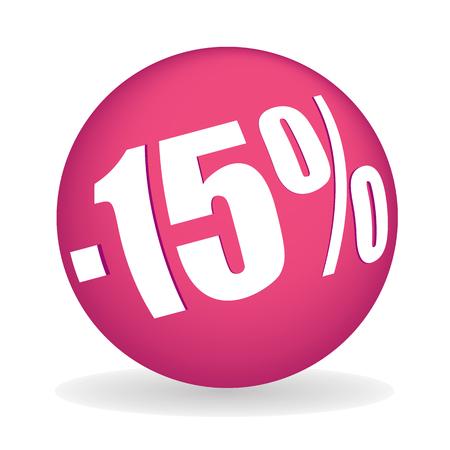 fifteen: fifteen percent off sphere full vector element