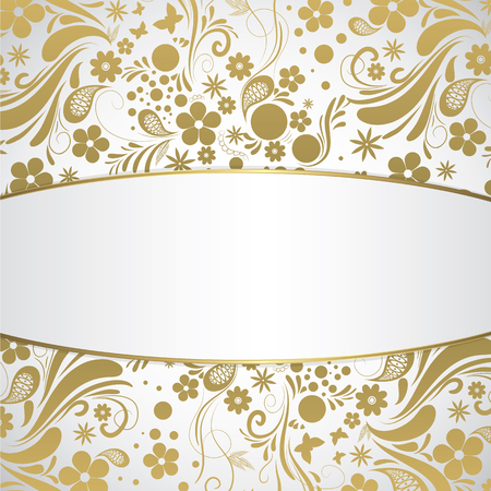 customizable: Golden art flowers customizable full vector background