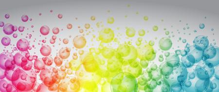 虹色の泡を完全なベクトル芸術バナー