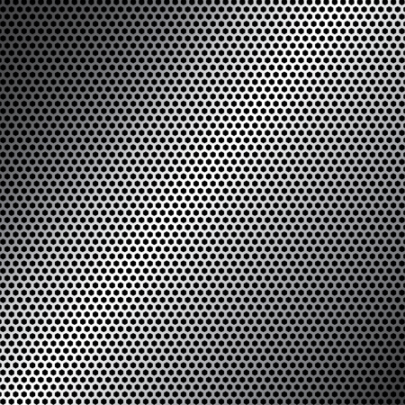 customizable: Honeycomb metal background customizable full vector elements