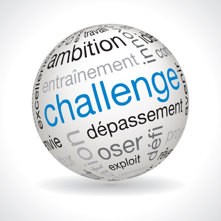keywords: French challenge theme sphere vector with keywords