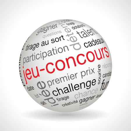 contest: French contest theme sphere vector with keywords Illustration